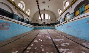 The abandoned swimming pool in Wünsdorf, Germany.
