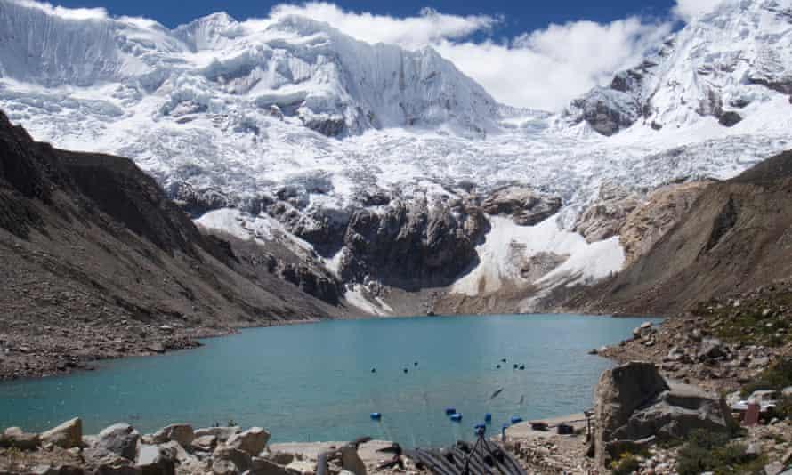 Lake Palcacocha in Peru