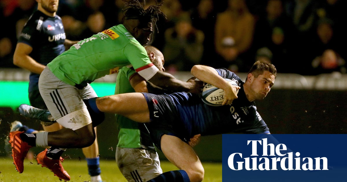 Paul Gustard hits out at 'ridiculous' Joe Marler after Sharks maul Quins