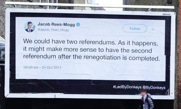 theguardian.com - Billboard campaign reminds voters of MPs' Brexit promises