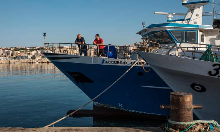 Carlo and Gaspare on board the Accursio Giarratano.