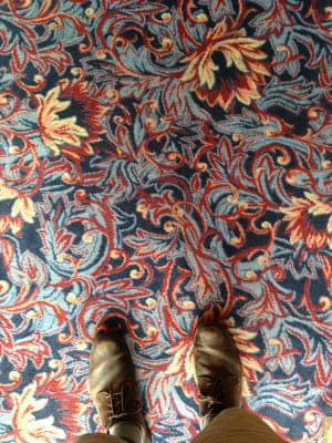 Phot of the carpet at The Giddy Bridge, at 12-18 London Rd, Southampton, Hampshire. Photograph: Kit Caless