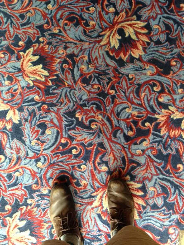 Phot of the carpet at The Giddy Bridge, at 12-18 London Rd, Southampton, Hampshire. Photograph: Kit Caless