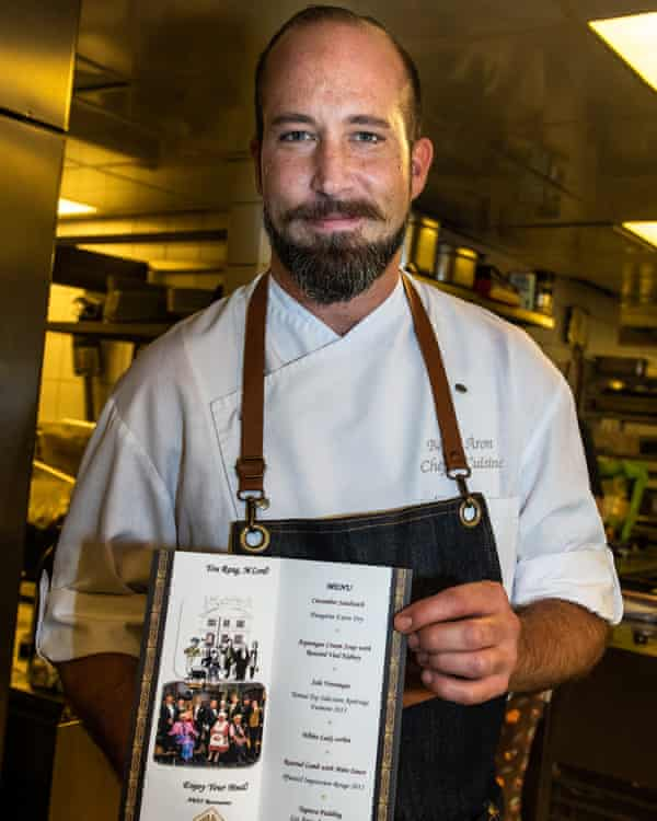 'I know it by heart' ... chef Áron Barka and his M'Lord-themed menu.