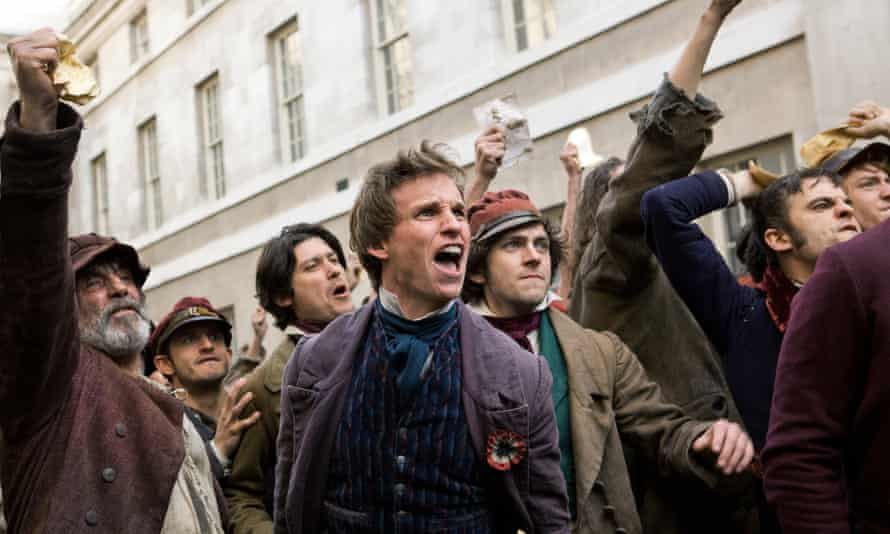 Eddie Redmayne (centre) in the 2012 film of Les Misérables.