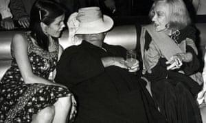 Truman Capote at Studio 54 with Kate Harrington, left, and Gloria Swanson.