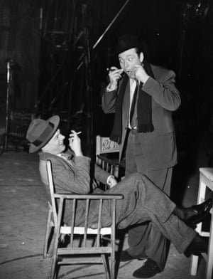 Joseph Cotten (Holly Martins), Orson Welles (Harry Lime)