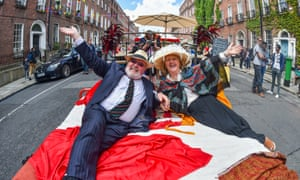 Ineluctable modality of Ulysses fans ... Bloomsday brunch and street party in Dublin.