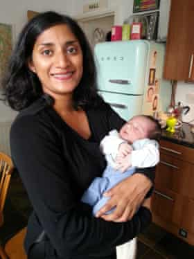Ramaswamy with her son.