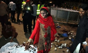 The aftermath of the Easter Sunday attack in Gulshan-e-Iqbal park.