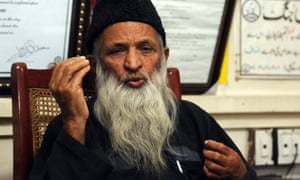 Abdul Sattar Edhi at the offices the Edhi Foundation, one of Pakistan's largest charities, in Karachi in 2010.
