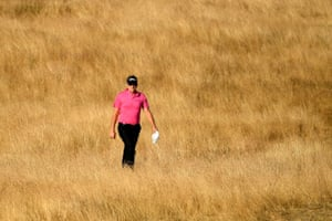 Poulter walks down the 17th.