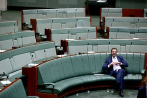 Labor MP Ed Husic after question time with love in his heart.
