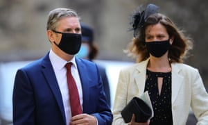 Sir Keir Starmer and his wife Victoria leaving Westminster abbey after the service.