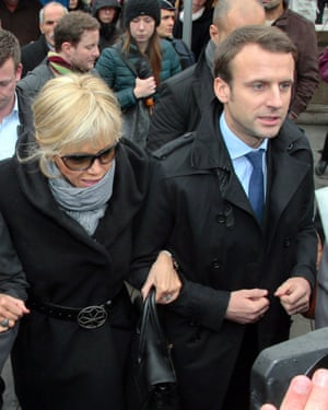 Macron with his wife Brigitte Trogneux