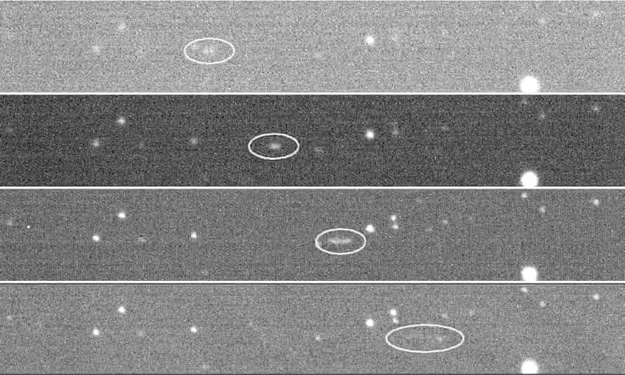 Fotos del Skymapper del asteroide 2018LA en tránsito