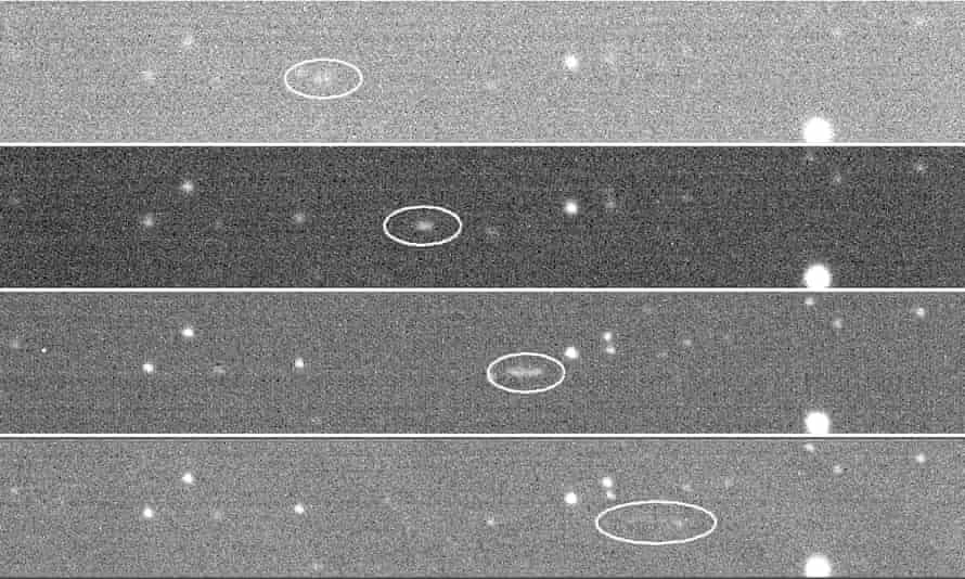 Skymapper φωτογραφίες του αστεροειδούς 2018LA σε μεταφορά