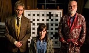 Reece Shearsmith as Tyler, Alexandra Roach as Nina and Steve Pemberton as Prof Nigel Squires.