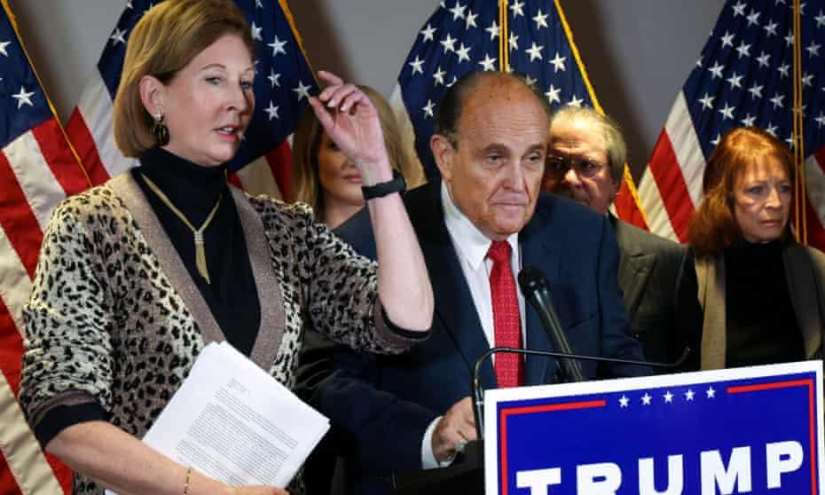 Sidney Powell with Rudy Giuliani in Washington in November.