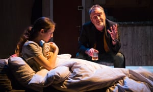 Poignancy and menace … Niamh James and Mark Hadfield in The Weatherman.
