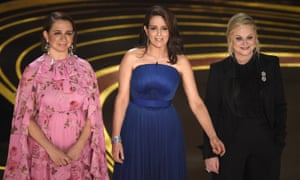 Maya Rudolph, Tina Fey and Amy Poehler who presented at the Oscars ceremony in 2019