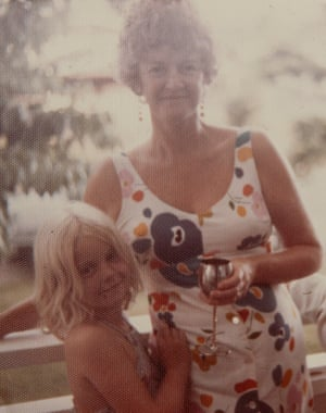 Wendy and her mother in 1973