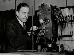 Monochrome magic … F Percy Smith at work in 1945, shortly before his death.