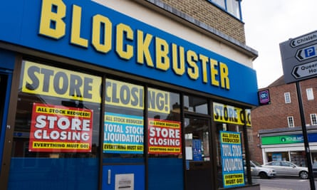 A Blockbuster store in Sidcup, Kent, 2013