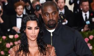 Kim Kardashian West and Kanye West arriving at the 2019 Met Gala.