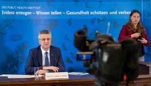Lothar Wieler, president of Robert Koch Institute, speaking at Germany's daily Covid-19 press briefing