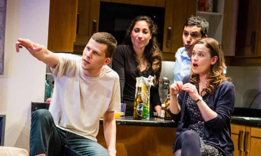 Normalcy and narcissisim... Jesse Eisenberg, Annapurna Sriram, Kunal Nayyar and Katie Brayben in The Spoils.