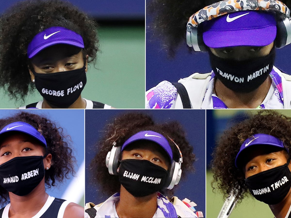 Naomi Osaka keeps victims of racial injustice in spotlight with US Open  masks   US Open Tennis 2020   The Guardian