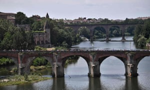 The picturesque town of Albi, as captured during the Tour de France this July.