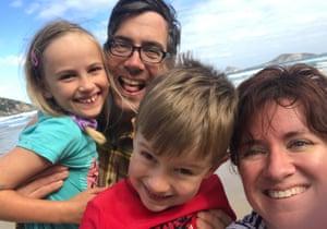Rees et Wilson avec leurs enfants