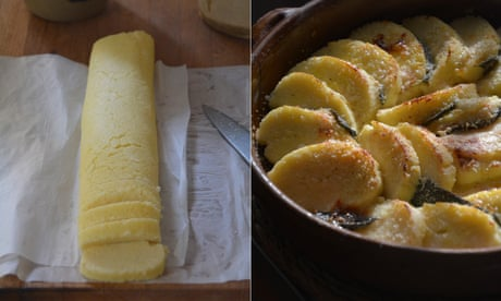 Rachel Roddy's recipe for semolina gnocchi with butter, parmesan and sage