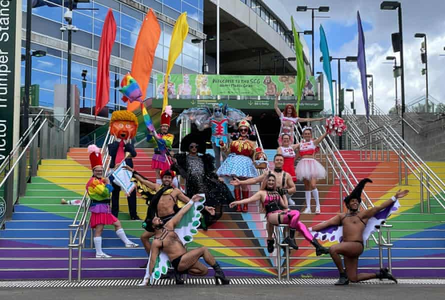Participants at the Mardi Gras media call on Friday