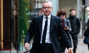 Michael Gove arrives at the Department for Environment, Food and Rural Affairs on Friday.
