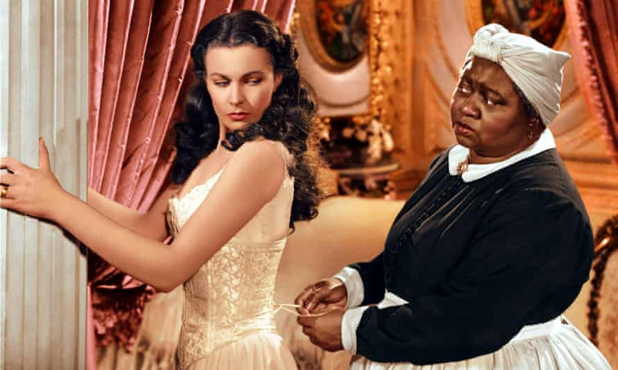 Vivien Leigh and Hattie McDaniel in Gone With the Wind. McDaniel won an Oscar for her role but was not allowed to sit with the cast at the ceremony.