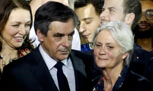 François and Penelope Fillon at a political rally in Paris at the end of January.
