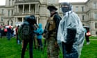 Protesters descend on Michigan capitol but rain washes away demonstration thumbnail