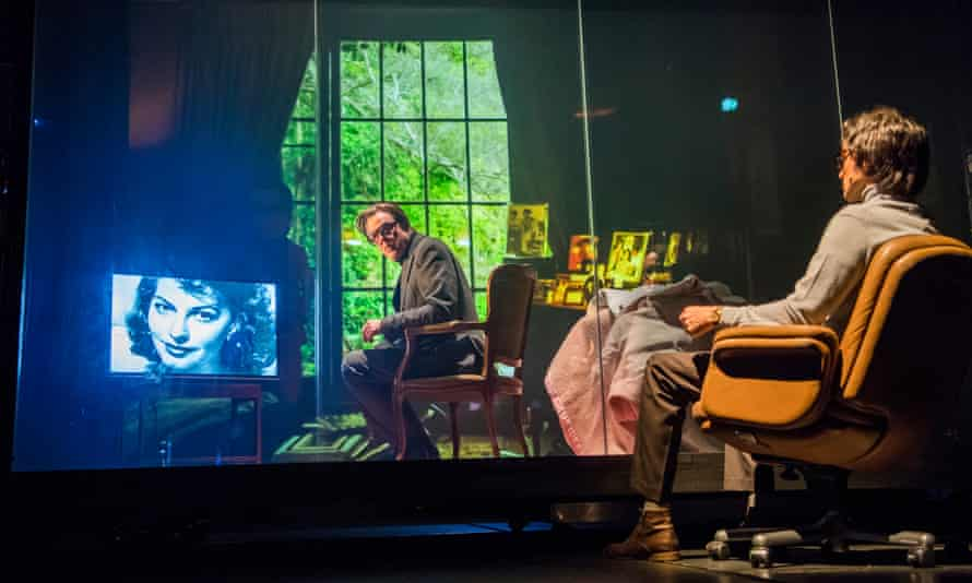 'Dimensionless': Danny Huston, centre, and Christian Camargo in The Kid Stays in the Picture at the Royal Court.