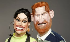 Spitting Image puppets of the Duke and Duchess of Sussex.