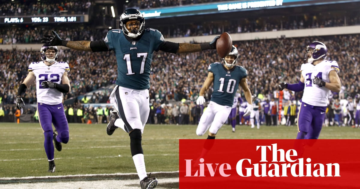 Minnesota Vikings 7-38 Philadelphia Eagles  NFC championship game – as it  happened! Nick Foles  shock performance wrecks Vikings Super Bowl dreams ... 7f7618728