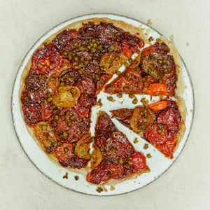 A wedding worthy tomato tarte tatin. From 'The Modern Cook's Year' by Anna Jones. 20 best tomato recipes.