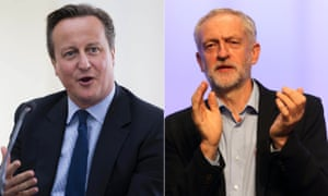 Cameron: apparently the bringer of good tidings for Corbyn.