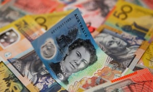 Photo of Australian dollar notes