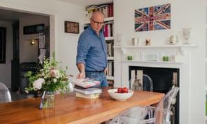 Chef Richard Bertinet in his kitchen in Bath, England.