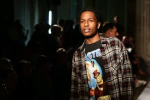 A$AP Rocky wears the upscale grunge look.