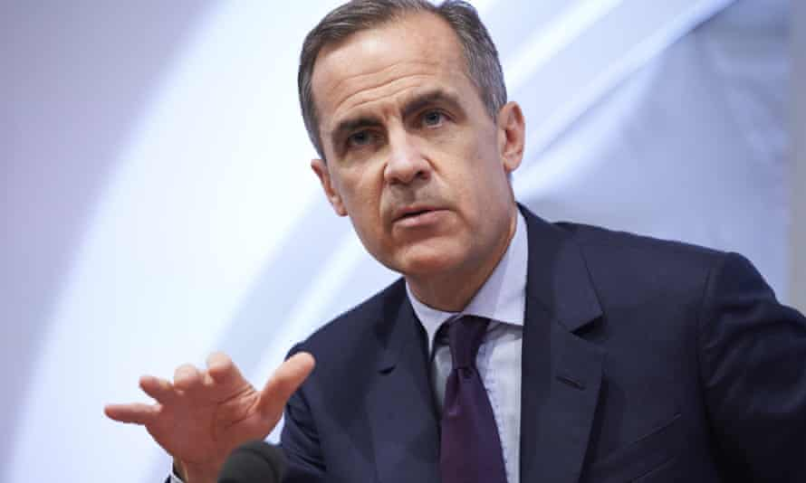 Mark Carney, the head of the Bank of England