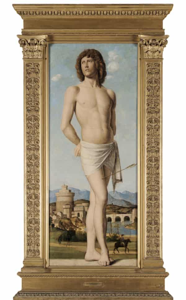 Saint Sebastian, 1500-02, by Cima da Conegliano.